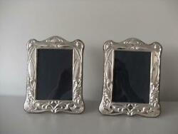 Superb Pair Of Sterling Silver Hallmarked Photo Frames London 2020