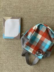 American Girl Truly Me plaid backpack school supplies pad paper for 18quot; doll NEW $12.51
