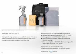 Genuine Mercedes Interior Car Care Kit W/ Custom Carrying Case For All Models
