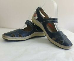 Cc Resorts Cloud Comfort Blue Leather Womens Shoes Size 37