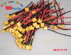 100pcs/lot Best Amass Xt30 U Male Connector Plug With 18awg Silicone Wires 10cm