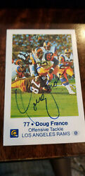1980 Los Angeles Rams Signed Police Card Doug France Oilers Ohio State Buckeyes