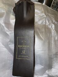 The Macallan 12 Scotch Whiskey Leather And Suede Bottle Case Case Only