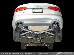 Awe Touring Edition Exhaust Chrome Silver Tips 90mm For 10-16 Audi B8 S4 3.0t