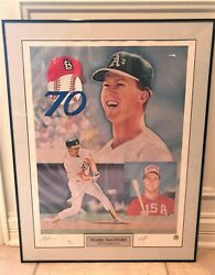 Mark Mcgwire 70th Home Run Lithograph Hand Signed Limited Editionandnbsp