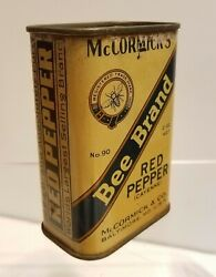 Mccormick's Bee Brand Baltimore Maryland Red Pepper Cayenne Spice Tin