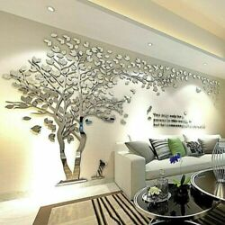 US Stock Large Family Tree Wall Decals 3D DIY Acrylic Wall Stickers Mural Decor