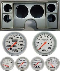 82-88 Chevy G Body Silver Dash Carrier Auto Meter Ultra Lite Mechanical Gauges