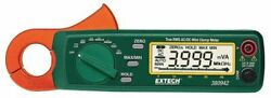Extech 380942-nist Clamp Meter Lcd 30 A 0.9 In 23 Mm Jaw Capacity Cat Iii