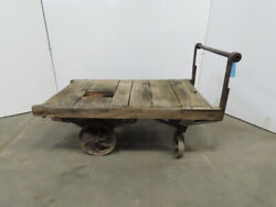 Vintage Antique Industrial Factory Warehouse Railroad Coffee Table Cart 30x48