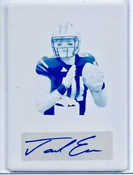 Jacob Eason 1/1 Auto Armed And Dangerous Wave Print Plate Colts Rookie Amazing🔥⭐️