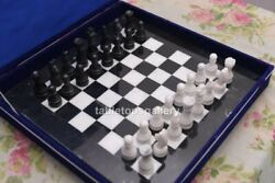 18x18 Black Marble Chess Game Set With Marble Pieces Occasion Decor Gifts H018