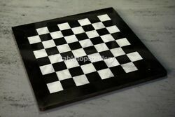 15x15 Black Marble Chess Coffee Table Top Handmade Occasion Gifts Décor H002a