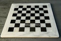 3'x3' Square White Marble Top Chess Dining Table Occasional Decorate Gifts H016d