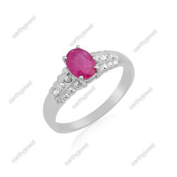 Natural Ruby Ring 925 Sterling Silver And Rose Cut Diamond Gemstone Jewelry R360