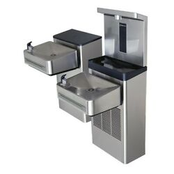 Haws 1212sf Wall Mount Hi-lo Ada Filtered Water Cooler With Bottle Filler