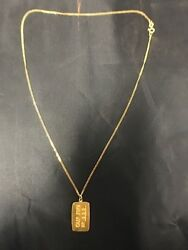 1979 Nevada City Mint .999 Gold Bar And 14kt Yellow Gold Necklace 315 Of 500