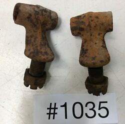 Ford Model T Early Years Rear Spring Perches W/nuts Will Need Bushings/cleaning