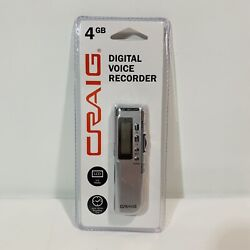 Craig Digital Voice Recorder 4 GB LCD display 140 hrs recording time CR8007 🔥🚐