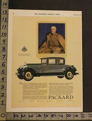 1927 Packard Coupe Military Soldier Barclay Illus Detroit Motor Car Auto Ad Ur84