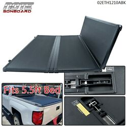 Solid Hard Tri-fold Tonneau Cover For 2015-2020 Ford F-150 5.5ft Short Bed Cover