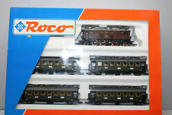 Roco 43923 Train Set With Elok Ep2 And 4 Passenger Car Drg Ac Gauge H0 Boxed