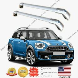 Silver Top Roof Rack Fit For 2011-2021 Mini Countryman Baggage Luggage Cross Bar