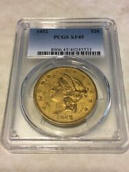 1852 Xf45 Pcgs 20 Gold Coin Liberty Double Eagle Type 1 Good Details