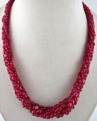 Natural Untreated Red Spinel Beads Cabochon 394 Carats Gemstone Ladies Necklace