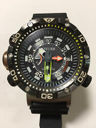 Citizen Promaster Aqualand 200m Diver Limited Black And Gold Men's Watch