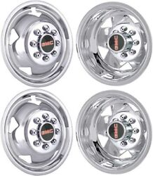 Jtcgm3500-11 Gmc Sierra 3500 Drw 17 Inch Stainless Steel Hubcaps/simulators Set