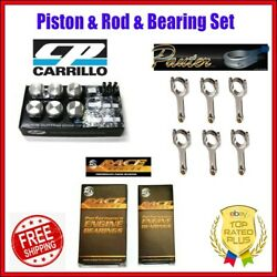 Cp Piston 3.425 Bore 11.31 Cr + Pauter Rod + Acl Bearing Set For Bmw S54b32