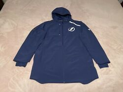 New Tampa Bay Lightning Blue Authentic Pro Rinkside Full-zip Jacket Menand039s L 150
