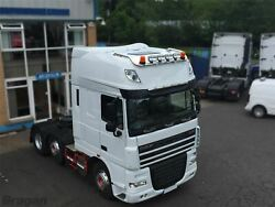Roof Bar + Leds + Spots + Air Horns For Daf Xf 106 13+ Superspace Cab Stainless