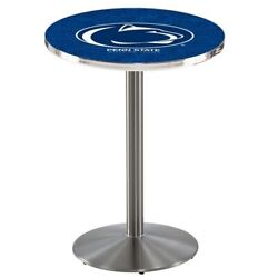 Holland Bar Stool Co. L214s4228pennst 42 Stainless Steel Penn State Pub Table