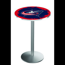 Holland Bar Stool Co. L214s3636colblu 36 Stainless Steel Columbus Blue Jackets