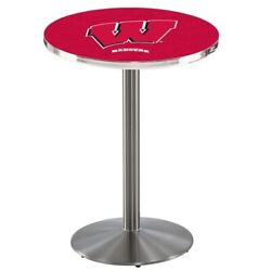 Holland Bar Stool Co. L214s3628wisc-w 36 Stainless Steel Wisconsin W Pub