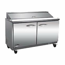 Ikon Isp61-2d 61 Two Section Sandwich / Salad Prep Table, 2 Drawers
