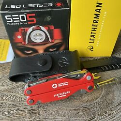 Limited Edition Set Leatherman Charge American Red Cross Multi Tool, Led Lenser