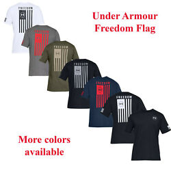 Mens Under Armour Freedom Flag Logo Tactical T Shirt New