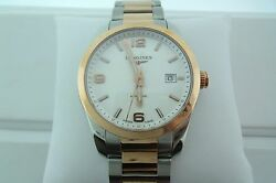 Longines 40mm Stainless Steel W/ Rose Gold Conquest Watch Retails @4100