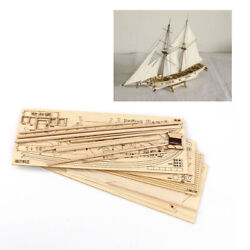 1/100 Wooden Model Kit Halcon Hobby Sail Boat Wood Ship Toy Assemble Display