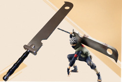 Naruto Anime Zabuza Sword Stainless Steel Blade Non-sharp With Free Leather Bag