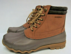 Mens Sperry Top Sider Waterproof Brewster Boots Sts14140 Brown Size 8m A128