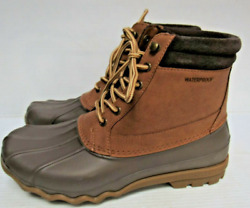 Mens Sperry Top Sider Waterproof Brewster Boots Sts14140 Brown Size 8m A129