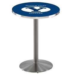 Holland Bar Stool Co. L214s3628brigyn 36 Stainless Steel Brigham Young Pub