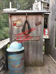 Sturgis Rally Outhouse Pic - Framed For Bathroom, Bar, Garage Or Man Cave