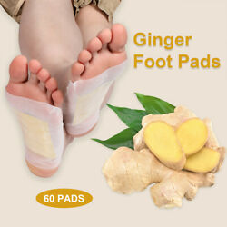 60pcs Ginger Rapid Pain Relief And Foot Health Fresh Scent Metatarsal Pads
