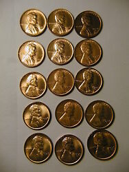 Lincoln Set 1935-1958 P,d,s Wheat Red Bu Cents 69 Coins Select Choice Gem
