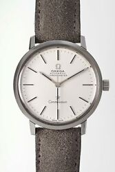 Omega Constellation St167.754 Non-date Model Vintage Watch 1973and039s Overhauled